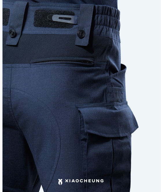 Stretchy Lycra lining at knee, waist &crotch,<br> for a comfortable fit during duty.