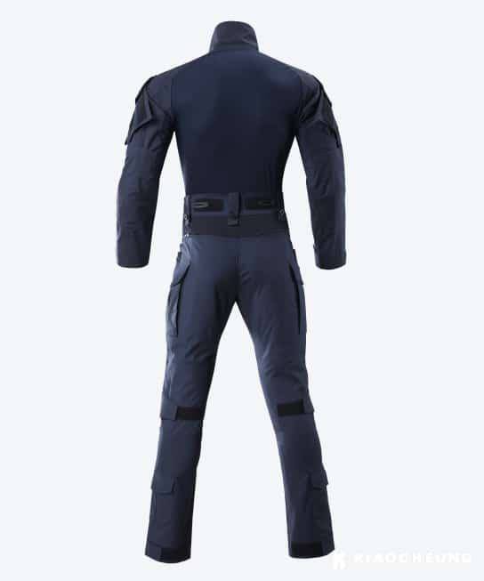 3d tailoring and stretchy fabric for a comfortable fit during duty